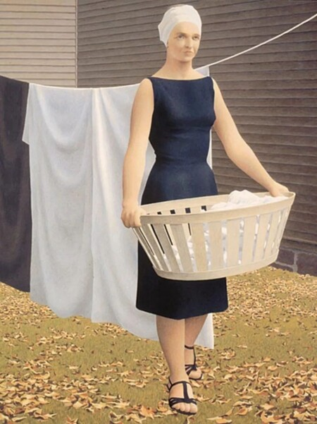 Woman At Clothesline