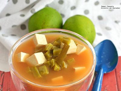 Sopa miso con un toque mexicano. Receta fusión