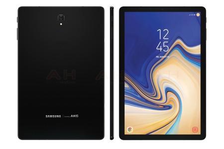 La Samsung Galaxy Tab S4 llegaría con bordes reducidos y sin botón físico según nuevos renders filtrados