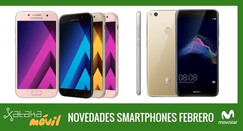 Precios Samsung Galaxy A5 (2017), Galaxy A3 (2017) y Huawei P8 Lite (2017) con pago a plazos Movistar
