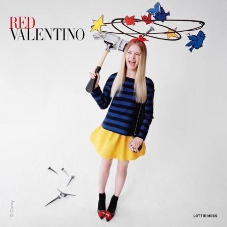 Lottie Moss campaña Red Valentino