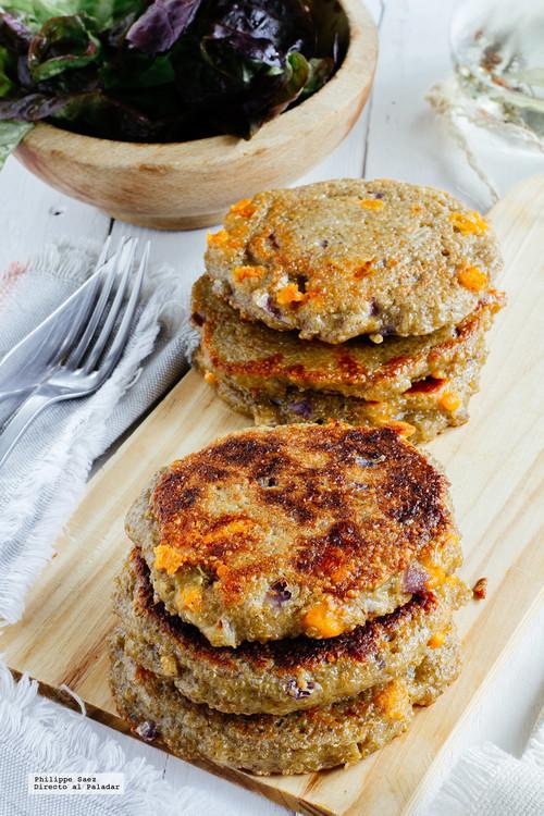 Hamburguesas de quinoa. Receta fácil y saludable