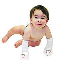 Drumstix: manoplas para bebés con dermatitis atópica
