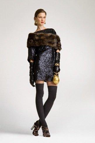 Lookbook Uterque Navidad 2010: vestido lentejuelas
