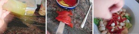 Ensalada de bacalao ahumado con pimientos del piquillo