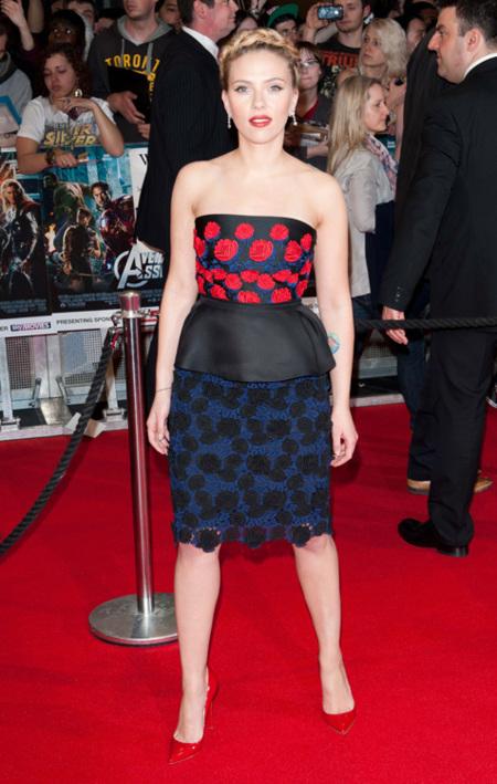 Scarlett Johansson en la premiere de Los Vengadores