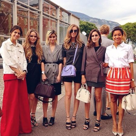 Las blogueras en el desfile de Louis Vuitton