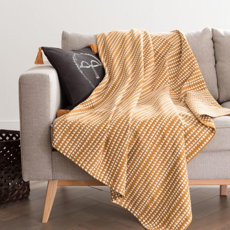 Manta De Algodon Tejido Amarillo Con Motivos Decorativos Color Crudo 160x210 1000 13 18 200426 1