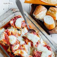 Berenjenas gratinadas con mozzarella. Receta vegetariana