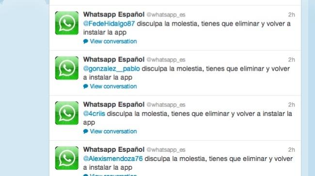 whatsapp error