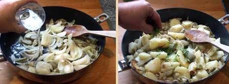 Salteado de patatas y alcachofas. Pasos