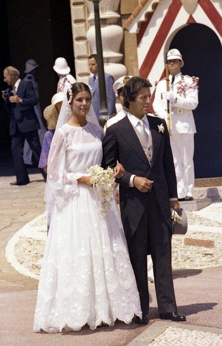 Boda Rea: Carolina de Mónaco vestido novia