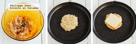 Hamburguesa Pollo Raclette Receta