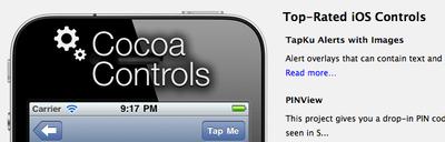 CocoaControls, widgets prefabricados listos para integrar en tu app