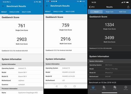 Benchmark Snapdragon 865 Xiaomi Mi 9 Iphone 11 Pro Max Huawei Mate 30 Pro