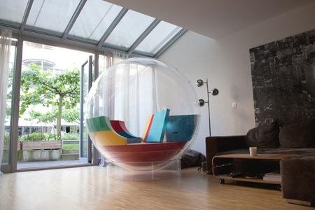 Cocoon 1 de Micasa Lab, un mueble en el que se puede vivir