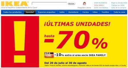 Hasta el 70% de descuento en últimas unidades de Ikea