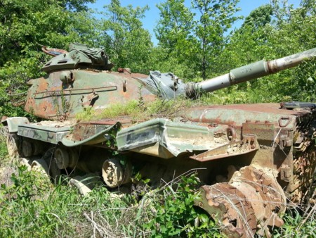 Tanques abandonados, Fort Knox