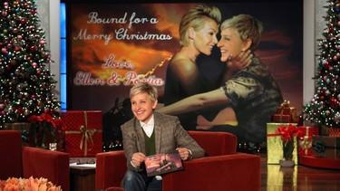 Ellen DeGeneres sí que sabe hacer postales de navidad