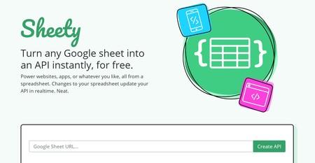 Sheety, un servicio que te permite convertir una hoja de cálculo de Google en una API gratis y al instante