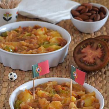 Cocina de Portugal: tomatada com batatas o guiso de tomates Kumato® con patatas