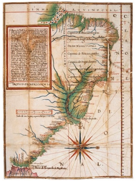 Mapa Brasil 1576