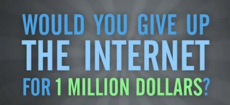 ¿Cuánto tendrían que pagarnos para renunciar a Internet para siempre?