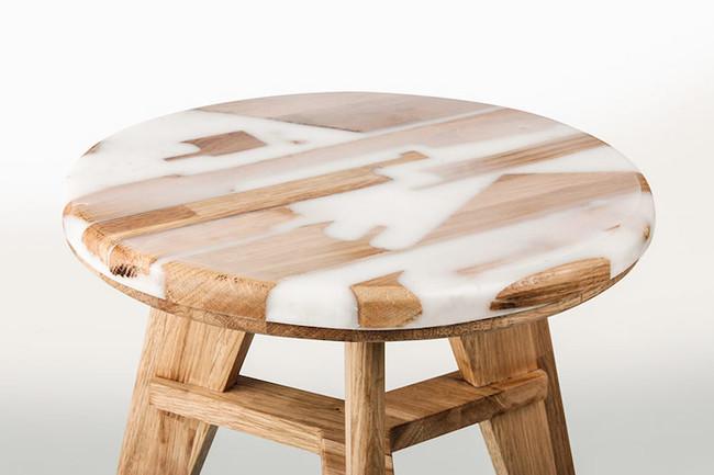 Hattern Resin Wood Stool 3