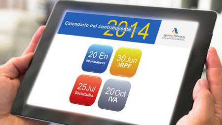 El calendario del contribuyente 2014 ya está disponible
