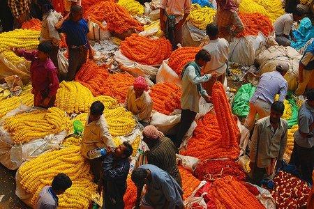 El mercado de las flores de Kolkata