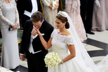El vestido de novia de Magdalena de Suecia de Valentino