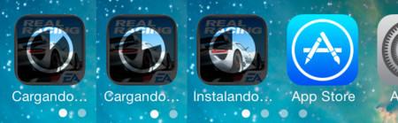 Animación de descarga de iOS 7 Beta 3