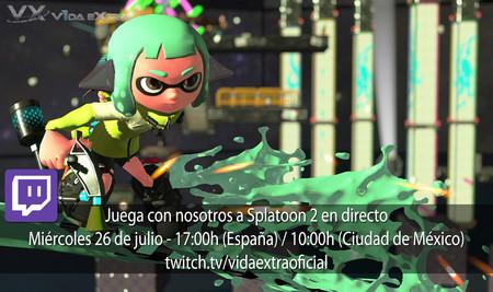 Juega con nosotros a Splatoon 2 en directo hoy a las 17:00h (las 10:00h en Ciudad de México) [finalizado]