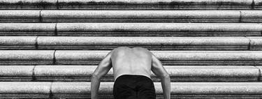 Ponte en forma entrenando en escaleras