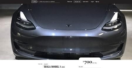 La gente está empezando a alquilar sus Tesla Model 3 por 700 dólares el día