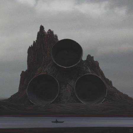 Ilustraciones digitales que nos dan un paseo por desoladores paisajes post-apocalípticos