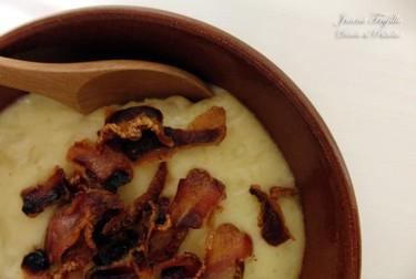 Sopa de patatas al horno. Receta
