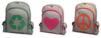 Bonitas mochilas recicladas con mensaje