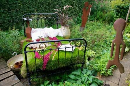 Una cama de flores, literalmente