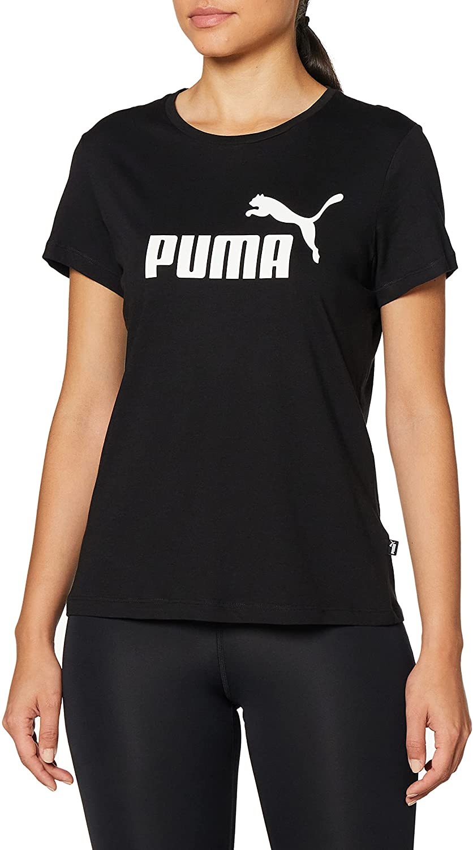 PUMA ESS Logo tee Camiseta, Mujer