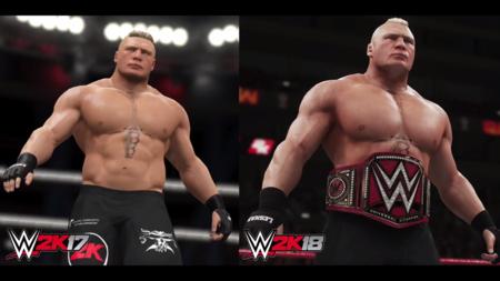 WWE 2K18 muestra por primera vez su aspecto in-game: así ha evolucionado la saga en un año