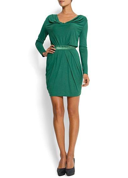 vestido verde corto mango
