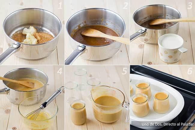 Crema de caramelo salado paso a paso