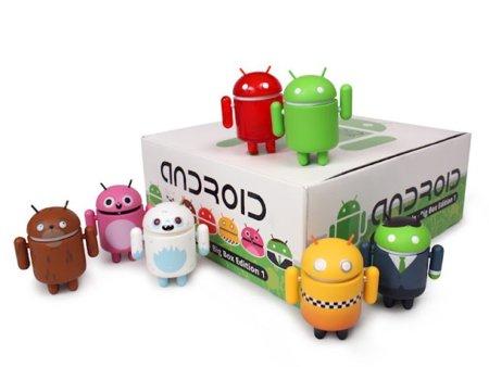 Las figuras oficiales de Android saldrán a la venta en tiendas