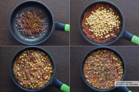 Tacos veganos de garbanzos y soja. Pasos
