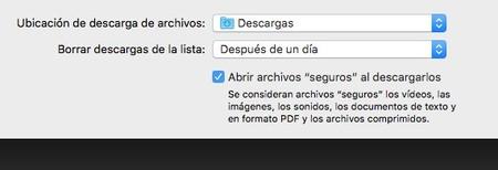 Safari Ajustes Archivos Seguros