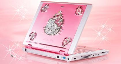 Lo que faltaba: ordenador portátil de Hello Kitty