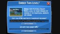 Angry Birds permite incrustar niveles en tus páginas web, la imagen de la semana