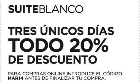 Aprovecha un descuento del 20 % del 7 al 9 de marzo en Blanco
