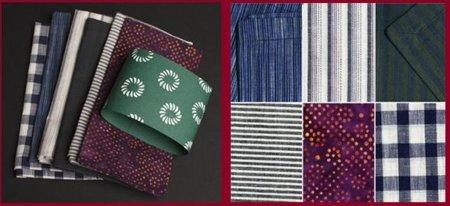 Servilletas inspiradas en los kimonos de la era Edo